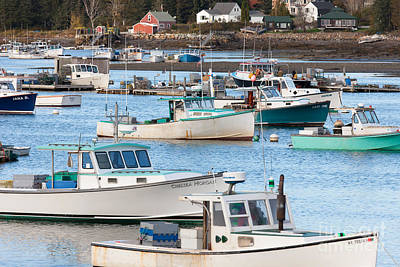 Photograph - Lobster Boats In Bass Harbor I by Clarence Holmes
