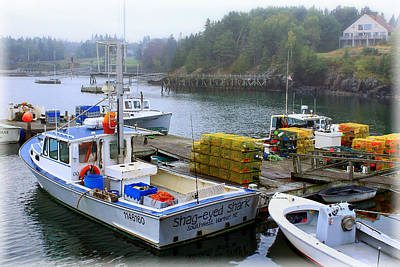 Photograph - Lobster Boats In Southwest Harbor by Carolyn Derstine