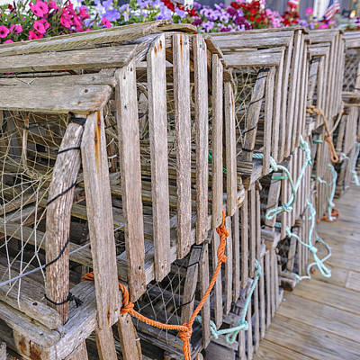 Photograph - Lobster Boxes Camden Maine by Marianne Campolongo