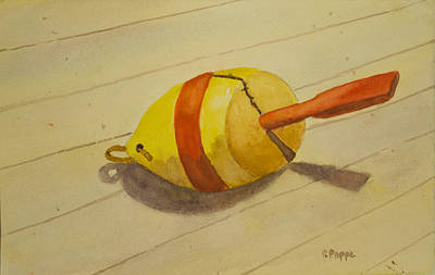 Painting - Lobster Buoy by Peggy Poppe