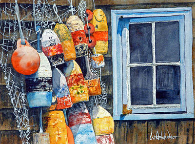 Lobster Buoys Art Print by Bill Hudson