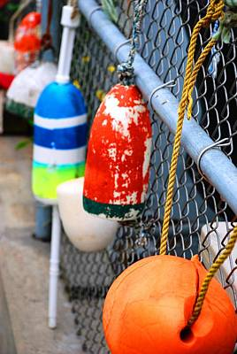 Photograph - Lobster Buoys by Charlie and Norma Brock