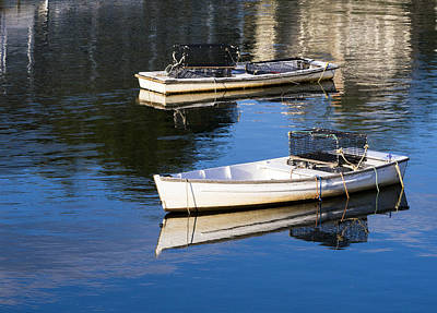 Photograph - Lobster Dinghies - Perkins Cove - Maine by Steven Ralser