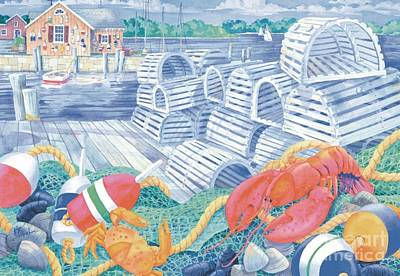 Shacks Painting - Lobster Dock by Paul Brent