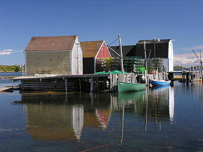 Photograph - Lobster Dock by Robert Lozen