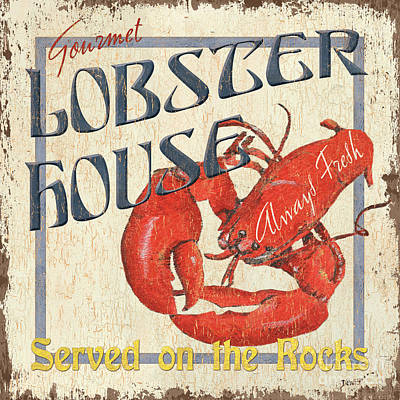 Rock Painting - Lobster House by Debbie DeWitt