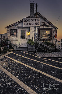 Hot Dogs Photograph - Lobster Landing Shack Restaurant At Sunset by Edward Fielding