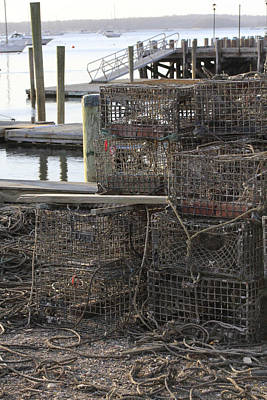 Lobster Pots Northport New York Art Print