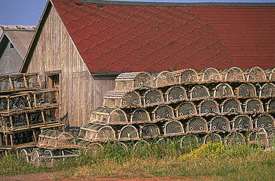 Fishing Boat Photograph - Lobster Pots Pei by Buddy Mays