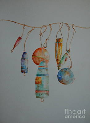 Painting - Lobster Sea Floats X 7 by Tamyra Crossley