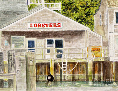 Flagg Painting - Lobster Shack by Carol Flagg