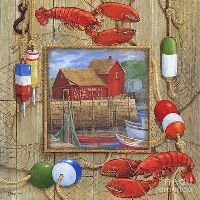 Painting - Lobster Shack Collage by Paul Brent