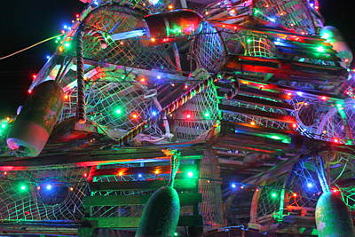 Lobster Trap Christmas Tree Up Close Original