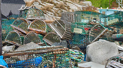 Peggys Photograph - Lobster Traps  by Betsy Knapp