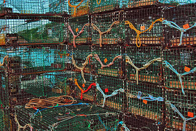 Buoys Photograph - Lobster Traps by Joann Vitali