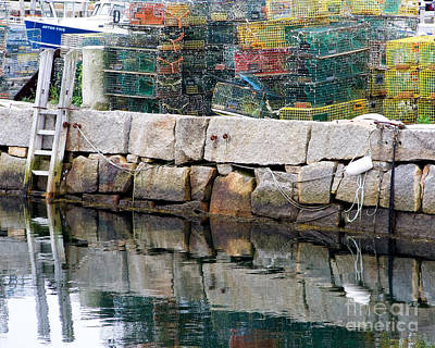 Photograph - Lobster Traps On Rock Pier by Kristen Fox