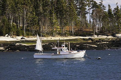 Lobsterboat In Spruce Head Maine Art Print by Keith Webber Jr