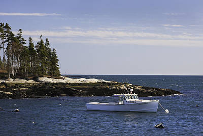 Lobsterboat In Spruce Head On The Coast Of Maine Art Print by Keith Webber Jr
