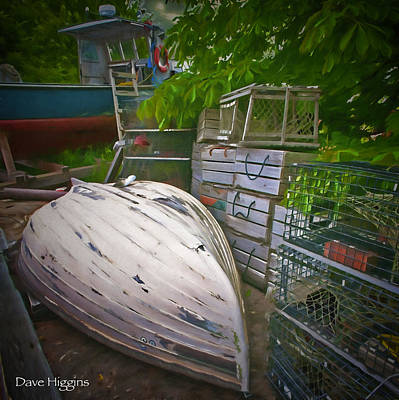 Digital Art - Lobsterman's Back Yard Stonington  Maine by Dave Higgins