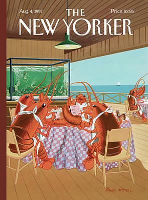 Food Painting - Lobsterman's Special by Bruce McCall