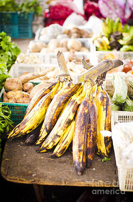 Local Asian Market Art Print by Tuimages