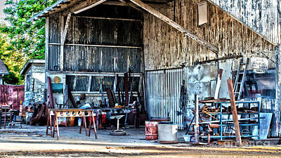 Steel Fabrication Photograph - Local Blacksmith by Along The Trail