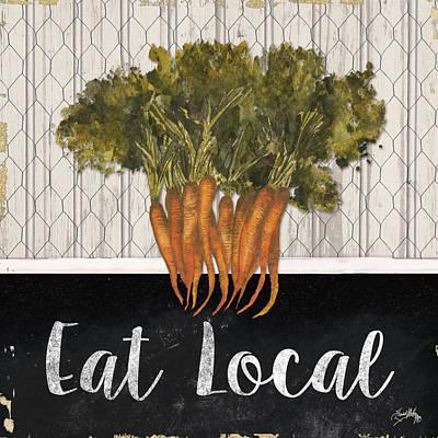 Carrot Wall Art - Digital Art - Local Grown I by Elizabeth Medley