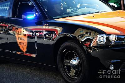 Gaston County Photograph - Local Police Cruiser by JW Hanley
