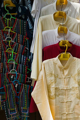 Local Shirts For Sale, Dali, Yunnan Art Print by Panoramic Images