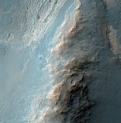 Location Of Opportunity Rover On Mars Art Print by Nasa/jpl-caltech/univeristy Of Arizona