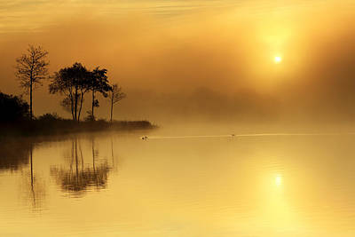 Loch Ard Morning Glow Art Print