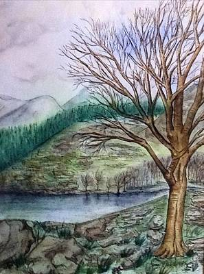 Painting - Loch Ard Stirling Overlooking Loch A'ghleannain by Joan-Violet Stretch
