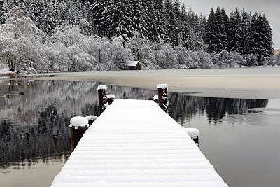 Photograph - Loch Ard Winter Scene by Grant Glendinning
