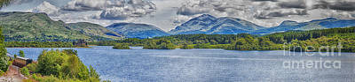 Loch Awe Panorama Art Print by Antony McAulay