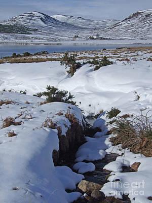 Photograph - Loch Brora - Snowfall by Phil Banks
