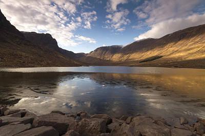 Loch Coire Nan Arr Print by Karl Normington