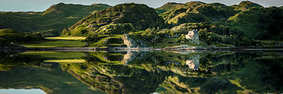 Photograph - Loch Crinan Scotland And Duntrune Castle by Alex Saunders