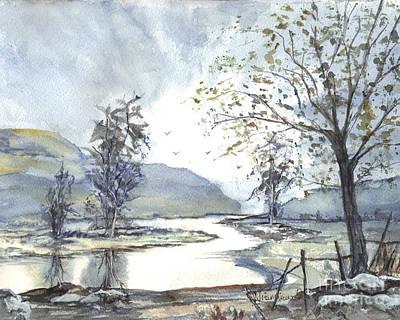 Fence Drawing - Loch Goil Scotland by Carol Wisniewski