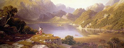 Mountainside Painting - Loch Katrine by George Fennel Robson