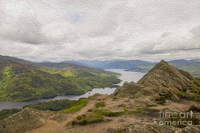 Digital Art - Loch Katrine by Patricia Hofmeester