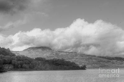 Photograph - Loch Lomond B And W by David Grant
