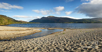 Bank Clouds Hills Photograph - Loch Lomond Pano by Jane Rix
