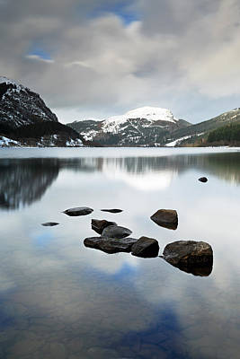 Winter Scene And Lake Photograph - Loch Lubnaig by Grant Glendinning