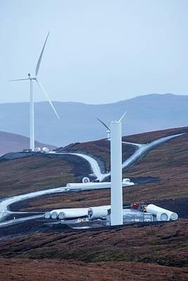 Destruction Photograph - Loch Luichart A 69 Mw Wind Farm by Ashley Cooper