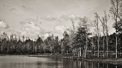 Photograph - Loch Mary 2 B/w by Greg Jackson