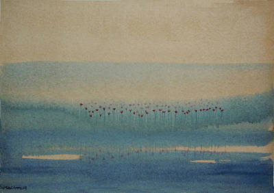 Art Print featuring the painting Loch Of My Heart by Mini Arora