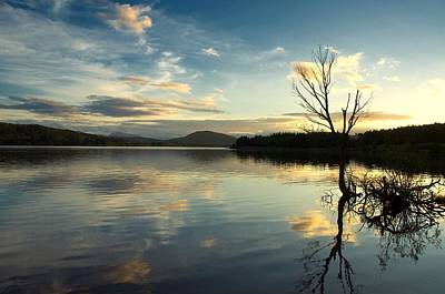 Art Print featuring the photograph Loch Rannoch Relflections by Stephen Taylor