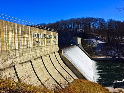 Photograph - Loch Raven Dam by Chris Montcalmo