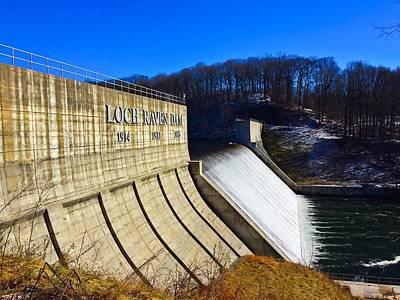 Photograph - Loch Raven Dam by Chris Montcalmo