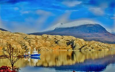 Loch Shieldaig In Assynt In The Scottish Highlands Art Print by Tylie Duff